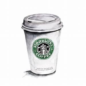 Drawn starbucks - Pencil and in color drawn starbucks