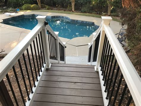 my result using sherwin williams lodge brown deck stain