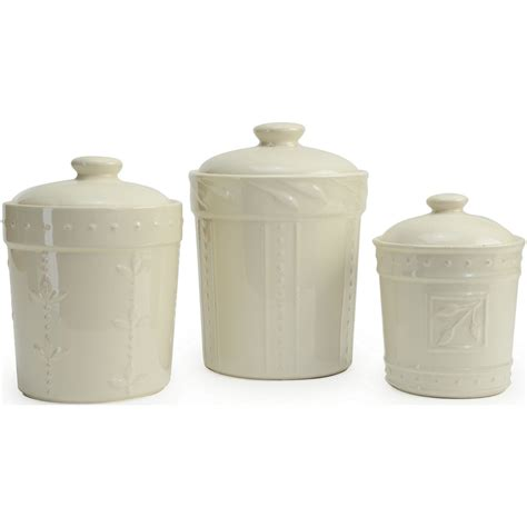 White Canister Sets Kitchen Signature Housewares Sorrento Kitchen Canisters 3 Sets Everything Kitchens