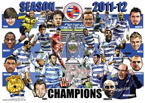 Steve King  Artist & Illustrator Reading Fc Champions