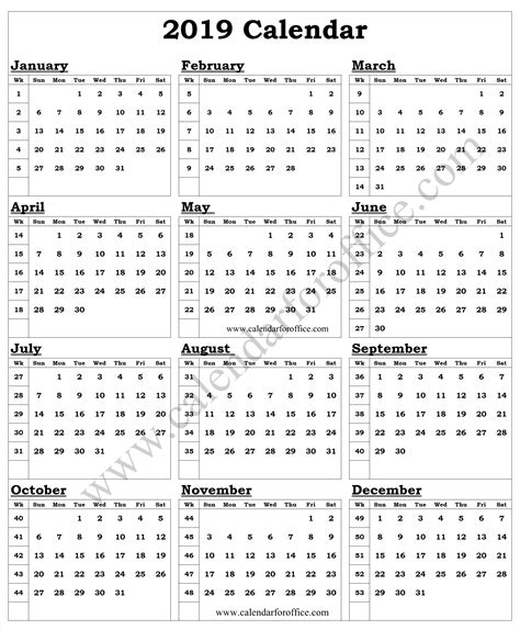 year calendar week numbers yearly calendar calendar