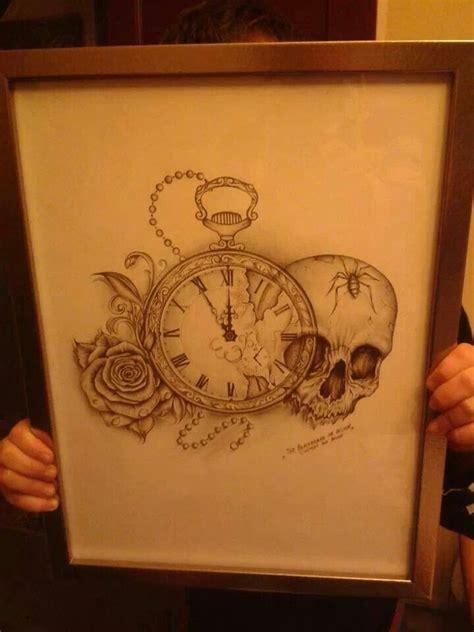 skull rose clock tattoos tattoos ink skull