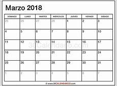 Blanco Calendario Marzo 2018 Con Feriados Y Feriados Para