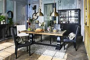 la deco campagne chic s39invite dans la salle a manger With meuble salle À manger avec chaise noir salon