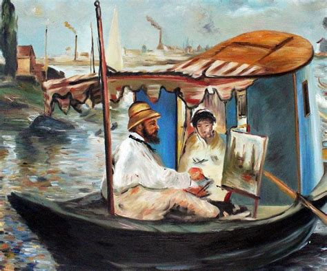 Manet Monet In His Studio Boat by Aliexpress Buy Artist Painting Claude Monet