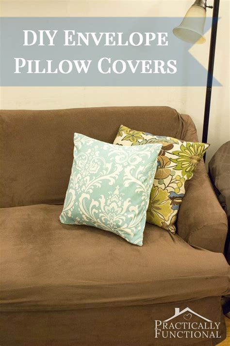diy pillow covers make your own envelope pillow covers
