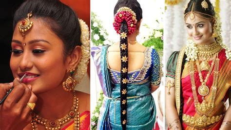 south indian bridal saree draping  bridal makeup