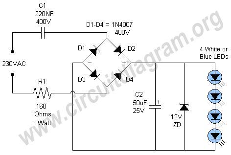 Led Night Light Lamp Circuit Diagram