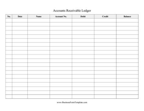 Accounts Receivable Forms Templates Accounts Receivable Ledger Template