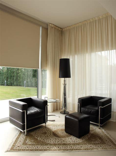 window treatments modern living room miami