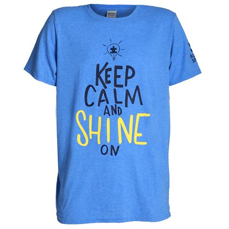 remain in light t shirt keep calm and shine on t shirt shop autismspeaks org