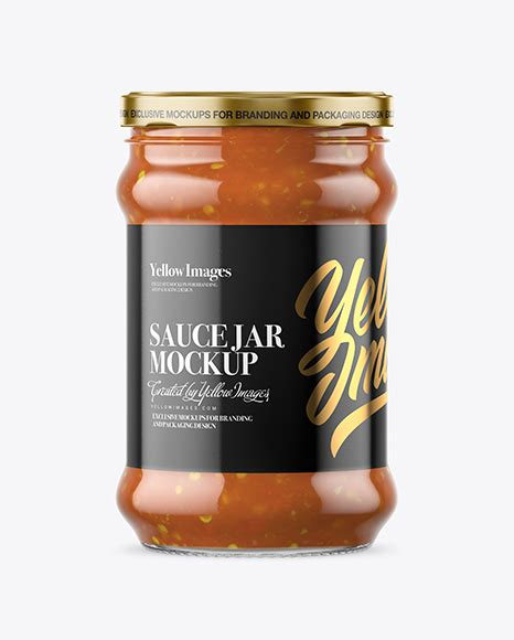 Includes special layers and smart objects for your amazing artwork. Clear Glass Sweet & Sour Sauce Jar Mockup in Jar Mockups ...