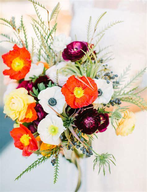 Memory Poppy Bouquet New Year S Wedding In The Desert Lizzie Dan Green