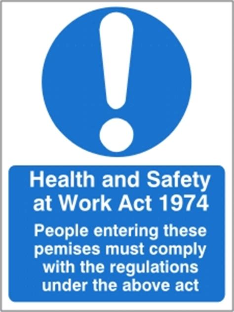 health  safety  work act  health  safety sign