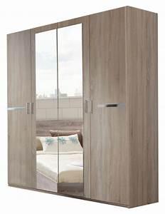 Armoire 4 Portes : armoire 4 portes anna chambre coucher imitation chene ~ Teatrodelosmanantiales.com Idées de Décoration