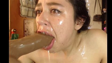 Throatfucking A Huge Dildo And Cross Eyed Orgasm Porn 60