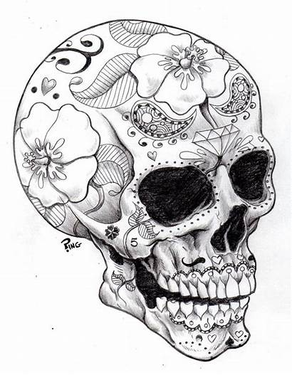 Coloring Skull Pages Evil Sugar Printable Adults