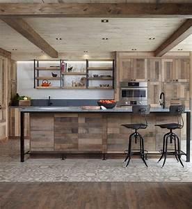 cuisine rustique grise decoration couleur peinture mur With meuble de cuisine rustique 3 sims 4 deco rustique cuisine kitchen chic moderne
