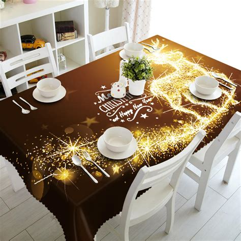 christmas tablecloth rectangular waterproof table cover