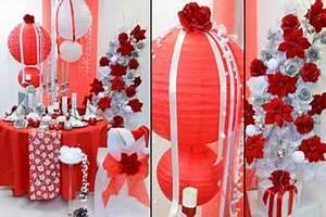 Deco Mariage Rouge Et Blanc Pas Cher : deco table mariage rouge et blanc boutique au cam lia ~ Dallasstarsshop.com Idées de Décoration