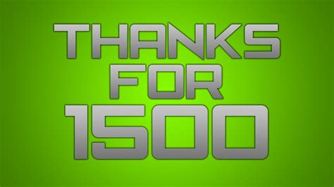 1500 Subscribers Video! Thank You So Much! Yay! ) Youtube