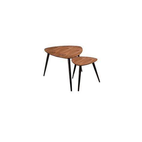 achat chambre complete adulte table basse scandinave en bois lot de 2 achat vente