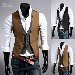 2019 Mens Dress New Arrival Hot British Fashion Plaid False Two Pieces Slim Vest Metrosexual Man