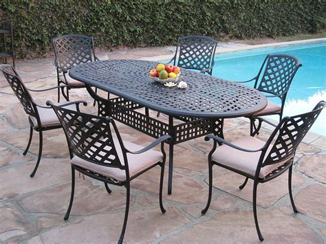 Patio Table Set by Kawaii Collection Outdoor Cast Aluminum Patio Furniture 7