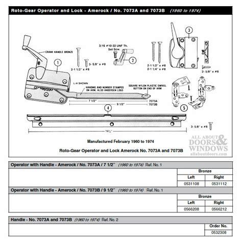andersen window crank handle long shank primed casement