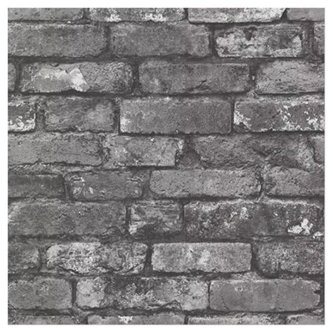 papier peint 171 brique 187 20 po x 31 po gris anthracite rona