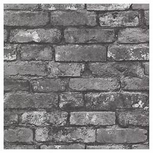Papier Peint Brique Gris : papier peint brique 20 po x 31 po gris anthracite rona ~ Dailycaller-alerts.com Idées de Décoration