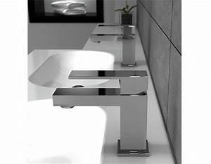 Robinet Pour Lavabo : robinet pour lavabo monotrou kubik robinets lavabos ~ Edinachiropracticcenter.com Idées de Décoration