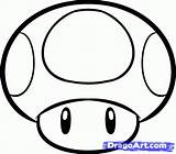 Mario Mushroom Brothers Draw Drawing Step Magic Coloring Pages Super Drawings Mushrooms Bros Stuff Simple Tattoo Google Clipart Creative Clipartmag sketch template