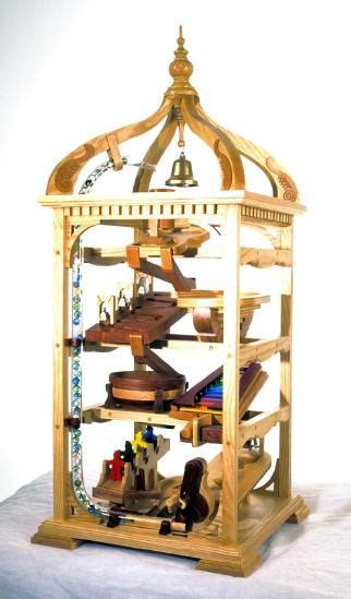 marble machine bell tower woodworking plan