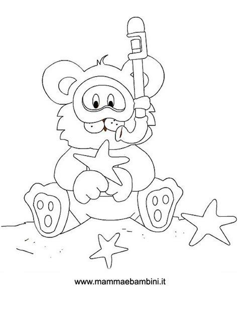 disegni da colorare mare per bambini disegni da colorare orsetto al mare mamma e bambini