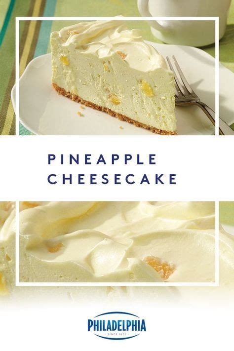 Mix cream cheese, sugar and vanilla at medium speed until well blended. PHILADELPHIA Pineapple Cheesecake | Recipe | Baked cheesecake recipe, Cheesecake recipes ...