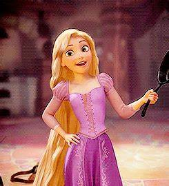 "Rapunzel frying pan GIF | Disney's ""Tangled"" - and Flynn ..."