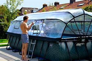 Gartenpool Zum Aufstellen : rahmenpool schwimmbecken 4x2m frame pool grau ~ Watch28wear.com Haus und Dekorationen
