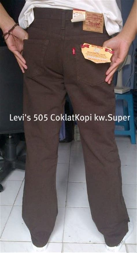 Harga Celana Merk Levis jual celana merk levis denim coklat grade original
