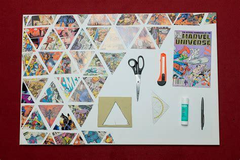 Diy Leinwand Collage by Materialien Comic Schere Kleber Diy Meinfoto