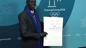 Refugee athlete shares message of peace in South Korea ...