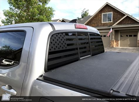 toyota tacoma american flag rear window decal