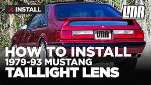 Fox Body Mustang Tail Light Lens Install