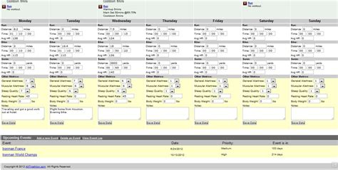 cycling training plan spreadsheet google spreadshee