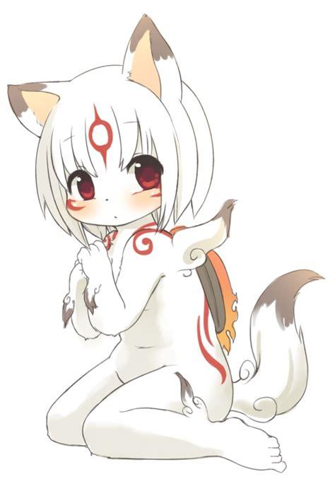 Cute Anthro Cat Female White