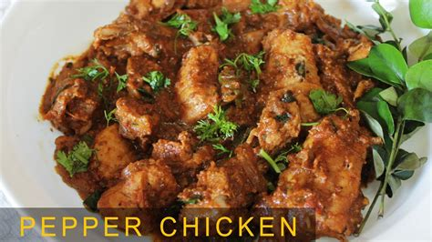 pepper chicken dry tasty spicy  veg recipe indian