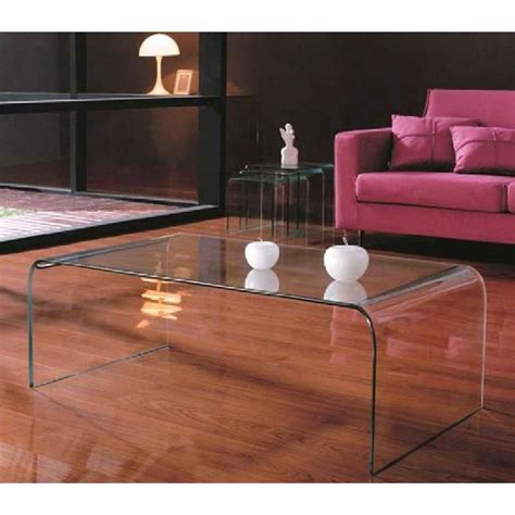 Cascade Clear Bent Glass Coffee Table, 2402030 5258