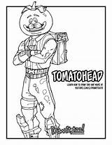 Fortnite Coloring Pages Burger Durr Drawing Printable Tomatohead Drawittoo Rock sketch template