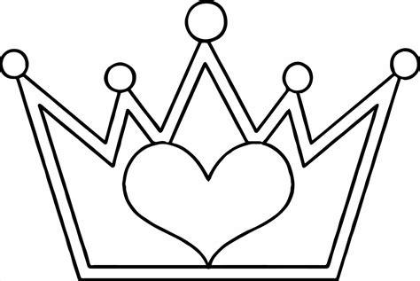 princess crown coloring page  images princess