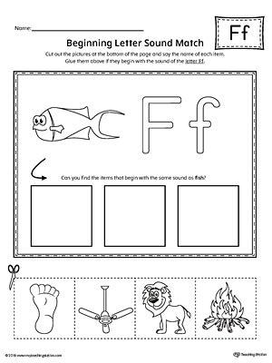 learning the letter f worksheet myteachingstation com